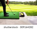 playing golf on a golf course... | Shutterstock . vector #309164282