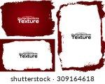 grunge frame texture set  ... | Shutterstock .eps vector #309164618
