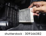 replacing cabin air conditioner ... | Shutterstock . vector #309166382