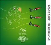 6th of september.pakistan's... | Shutterstock .eps vector #309166406