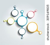 circle infographic chart.... | Shutterstock .eps vector #309169835