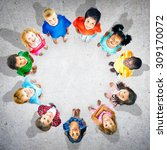 children kids circle group... | Shutterstock . vector #309170072
