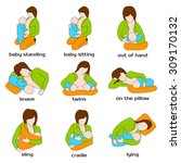 woman breastfeeding a child in... | Shutterstock .eps vector #309170132