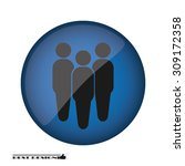three people | Shutterstock .eps vector #309172358