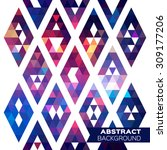 abstract colorful geometric... | Shutterstock .eps vector #309177206