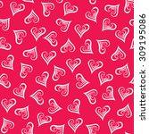 seamless hearts pattern. design ... | Shutterstock . vector #309195086