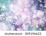 decorative christmas background ... | Shutterstock . vector #309196622