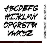 handwritten calligraphic black...   Shutterstock .eps vector #309206465