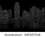 binary code in form of...   Shutterstock .eps vector #309207518