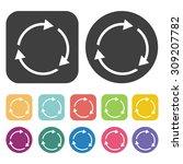 arrow circle icon icons set....
