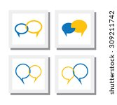 set of chat signs or talk... | Shutterstock .eps vector #309211742