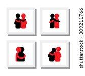 set of logo designs of friends... | Shutterstock .eps vector #309211766