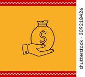 icon of man hand holding money... | Shutterstock .eps vector #309218426