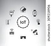 internet of things  internet of ... | Shutterstock .eps vector #309218906