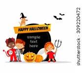 Cute Cartoon Happy Halloween...