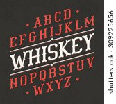 whiskey style vintage font....   Shutterstock .eps vector #309225656