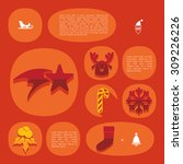 christmas flat infographic | Shutterstock .eps vector #309226226