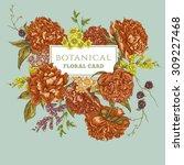 beautiful vintage floral... | Shutterstock .eps vector #309227468