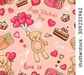 cute pattern with teddy bear ...   Shutterstock .eps vector #309231962