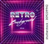 80s retro sci fi background | Shutterstock .eps vector #309239942