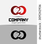 number 2 logo. vector logotype... | Shutterstock .eps vector #309242936
