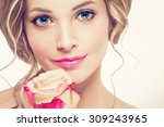 Beautiful Woman Portrait With...
