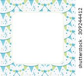 cute vector template for baby... | Shutterstock .eps vector #309244412