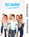 the word get involved and... | Shutterstock . vector #309254816