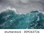 Small photo of ocean wave in the indian ocean during storm