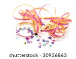 colorful party streamers on... | Shutterstock . vector #30926863