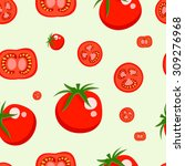 tomato icon seamless pattern... | Shutterstock .eps vector #309276968