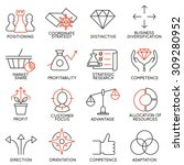 vector set of 16 icons related... | Shutterstock .eps vector #309280952