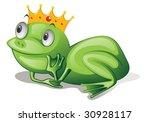 illustration of green frog on... | Shutterstock .eps vector #30928117