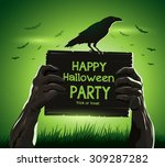halloween vector illustration... | Shutterstock .eps vector #309287282