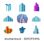 house vector logo design... | Shutterstock .eps vector #309295496