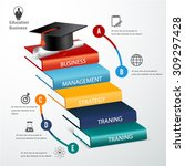 education business infographic. | Shutterstock .eps vector #309297428