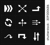 9 flat modern arrows | Shutterstock . vector #309300686