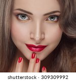 beautiful woman young model... | Shutterstock . vector #309309992