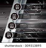 dark silver black web design...   Shutterstock .eps vector #309313895