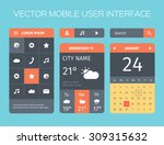 vector set of mobile interface. ...