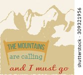 34 the mountains vintage retro... | Shutterstock .eps vector #309321956