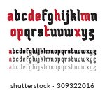 fat rounded line gothic style... | Shutterstock .eps vector #309322016