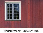 Red Vertical Wood Wall With...