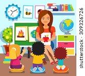 Kindergarten Teacher Woman...