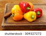 Fresh Organic Bell Peppers On ...