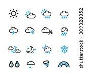 weather icons set vector | Shutterstock .eps vector #309328352