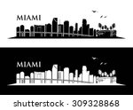 miami skyline   vector... | Shutterstock .eps vector #309328868