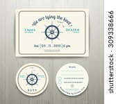nautical we are tying the knot... | Shutterstock .eps vector #309338666