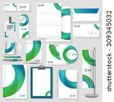 technology corporate identity... | Shutterstock .eps vector #309345032