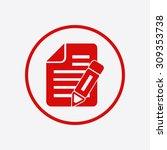 document icon.   Shutterstock .eps vector #309353738